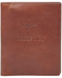 Fossil Passport Case-cognac - Brown