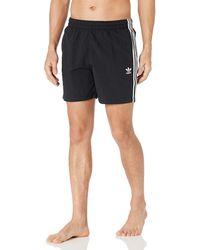 adidas Originals ,mens,3-stripes Swim Shorts,black,small