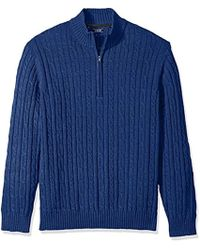 Izod - Cable Solid 1/4 Zip Sweater - Lyst