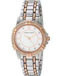 Anne Klein - Swarovski Crystal Accented Rose Gold-tone Watch - Lyst