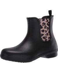Crocs™ Freesail Chelsea Ankle Rain Boots Water Shoes - Black