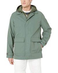 Lacoste 3 In 1 Raincoat Twill Nylon Cotton - Green