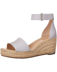 Franco Sarto Clemens Leather Wedge Espadrilles - Purple