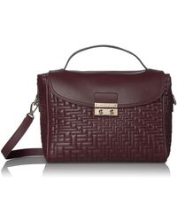 Cole Haan Quilted Leather Satchel - Multicolor