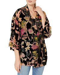 Only Hearts Tapestry Devore Kimono - Black