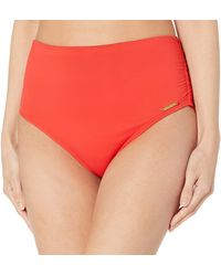 Vince Camuto Convertible High Waist Bottom - Red