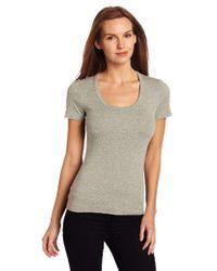 Three Dots - Short-sleeve Scoop-neck T-shirt - Lyst