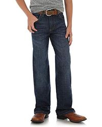 Wrangler Retro Relaxed Fit Straight Leg Jean, Shackleford, 6 Slim - Blue