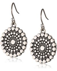 "Lucky Brand ""blue Moon"" Drop Earrings - Metallic"
