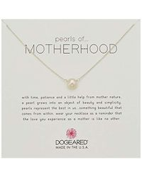 "Dogeared - Pearls Of Motherhood Large Button Necklace, Sterling Silver, 16"" + 2"" Extension - Lyst"