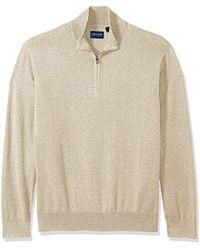 Dockers - Long Sleeve Quarter Zip Sweater - Lyst