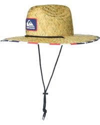 Quiksilver Outsider Lifeguard Beach Sun Straw Hat - Yellow