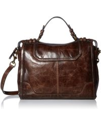 Frye Mel Satchel - Brown
