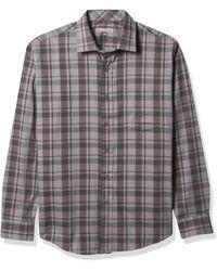 Cole Haan Performance Long Sleeve Buttondown Shirt - Gray