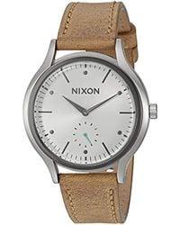 Nixon - 'sala' Quartz Leather Watch, Color:brown (model: A9952364-00) - Lyst