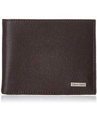 Calvin Klein Passcase Wallet - Brown