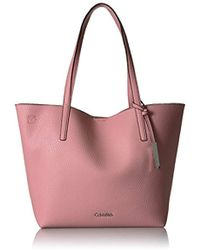 Calvin Klein - Unlined Novelty Chemtech Tote - Lyst