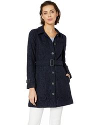Cupcakes And Cashmere Aldean Lace Trench - Blue
