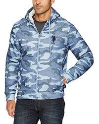 U.S. POLO ASSN. - Standard Fashion Sherpa Lined Fleece Hoodie - Lyst