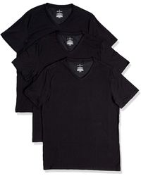 Buttoned Down 3-pack Supima Cotton Stretch V-neck - Black