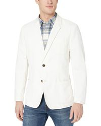 Goodthreads Marque Amazon – Blazer en lin à coupe classique pour - Blanc