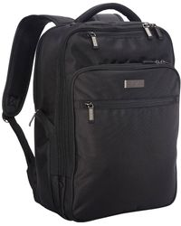 """Kenneth Cole Reaction Brooklyn Commuter Backpack Slim 16"""" Laptop & Tablet Anti-theft Rfid Business - Black"""