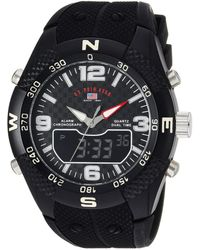 U.S. POLO ASSN. Analog-quartz Watch With Rubber Strap - Black