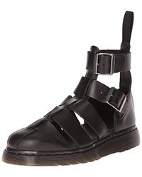 e6dc66ef0 Dr. Martens Myles Brando Leather Double Strap Sandals in Black for ...