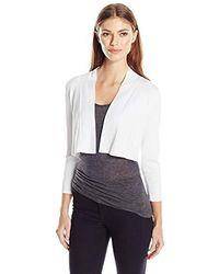 Calvin Klein - Knit Shrug Sweater - Lyst