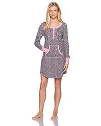Mae - Sleepwear Thermal Henley Long Sleeve Nightgown - Lyst