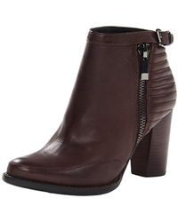 French Connection Odea Side Zip Ankle Boot, Chocolate, 38.5 M Eu/8.5 M Us - Brown