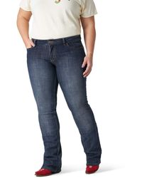 Wrangler - Plus Size Western Mid Rise Stretch Boot Cut Jean - Lyst