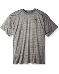 Russell Athletic Big And Tall Ss Dripower Heather Crew - Gray