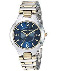 Anne Klein - Quartz Metal And Alloy Bracelet Watch - Lyst