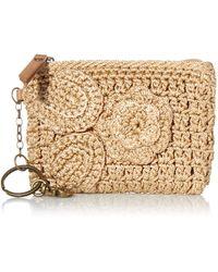 The Sak Iris Crochet Card Wallet - Metallic