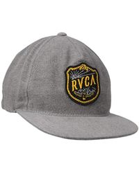 cb8478eb5655b Lyst - RVCA Shelter Five Panel Hat in Black for Men