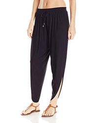 Laundry by Shelli Segal - Solid Draped Cover Up Pant - Lyst