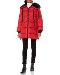 Steve Madden Puffer Jacket - Red