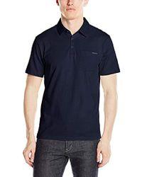 Calvin Klein - Liquid Cotton Polo Shirt - Lyst