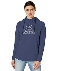 Columbia Hart Mountain Graphic Hoodie, Soft Pullover - Blue