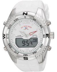 U.S. POLO ASSN. Analog-quartz Watch With Rubber Strap - White