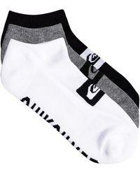 Quiksilver 3 Pack Ankle Socks - Black