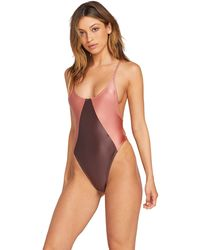Volcom Metal One Piece Swim - Purple