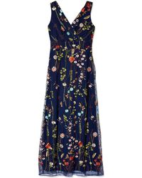 Chetta B Embroidered Gown - Blue
