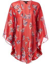 Steve Madden Fresh Breeze Luxe Kimono - Red