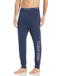 Calvin Klein Immerge French Terry Jogger Pyjama Bottom - Blue
