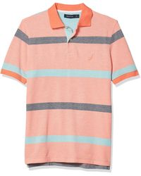Nautica Classic Fit Striped Polo - Pink