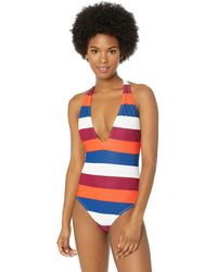 Volcom Stripe Search One Piece Swimsuit - White
