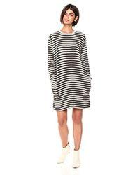 Velvet By Graham & Spencer Mabel Cozy Stripe Dress - Black