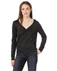 MILLY - Knit Long Sleeve Shimmer Twist Front Pullover - Lyst